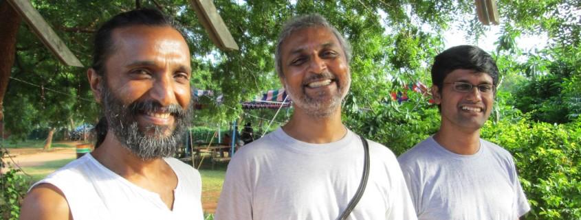 Sopanam core team: Manoj, Hemant and Arnab